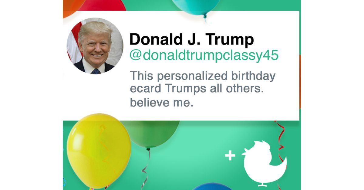 Trumps Perfect Birthday Post Ecard Personalize