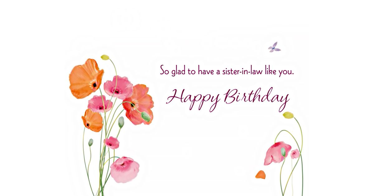 Glad Youre My Sister In Law Ecard