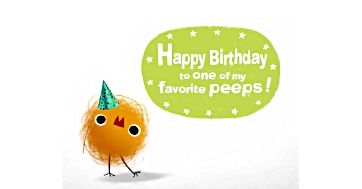 Birthday Peep Ecard