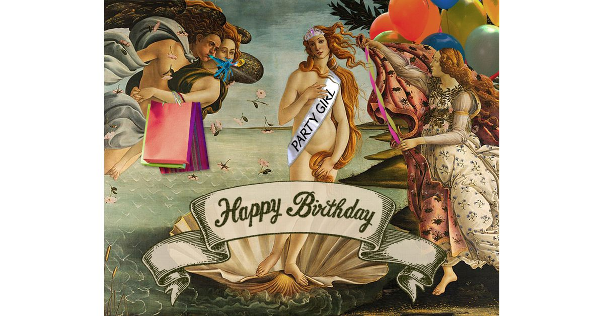 Funny Fine Art Birthday Ecard Fun Song
