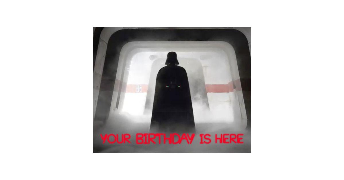 Star WarsTM Darth Vader Birthday Ecard