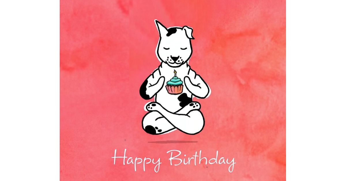 Yoga Dog Birthday Ecard