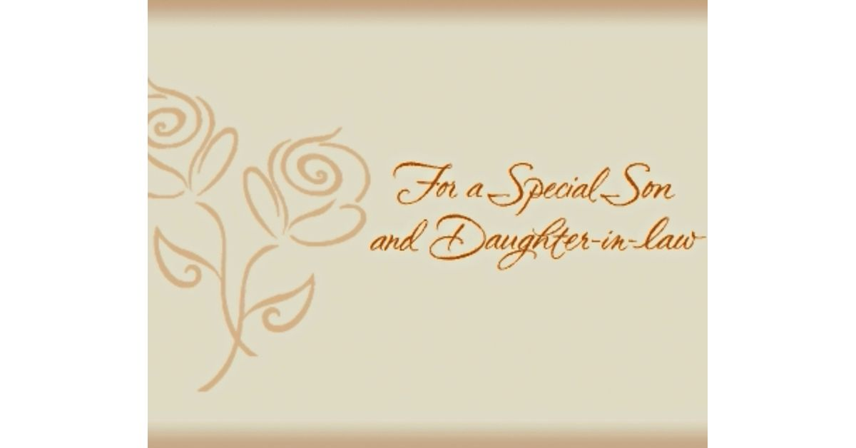 Son /& Daughter-in-law Anniversary Card