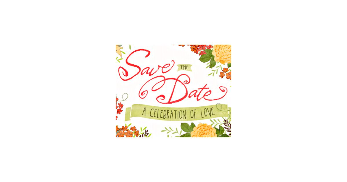 celebrate our love save the date  postcard