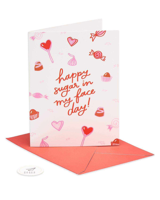 sugar in my face valentine's day card  paper rebel