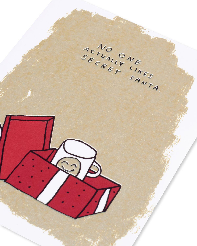 secret santa holiday card  paper rebel
