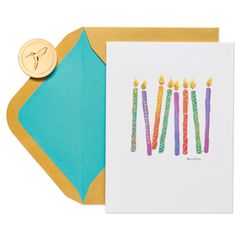 Candles Birthday Greeting Card- Designed by Bella Pilar