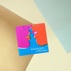 Kissing You Greeting Card - Romantic, Anniversary, Thinking of You