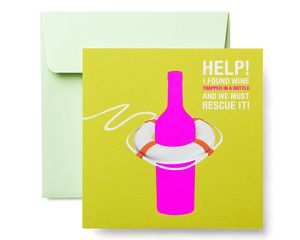 Wine Greeting Card - Birthday, Thinking of You, Friendship