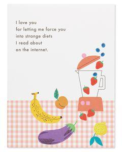 strange diets valentine's day card