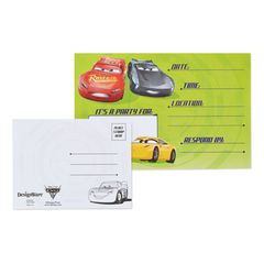 Cars 3 8-Count Invite and Thank-You Combo Pack