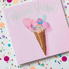 Forever Young Birthday Greeting Card