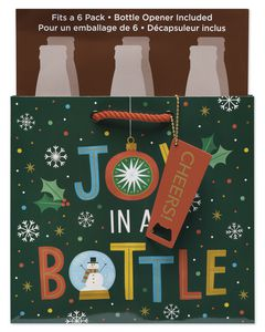 Holiday Joy in a Bottle Beer Bag