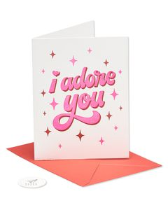 adore you valentine's day card