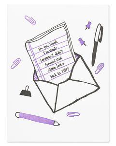 chain letter friendship card