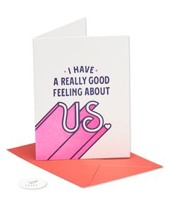 good feeling about us romantic card