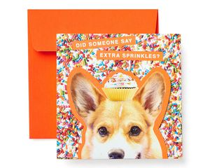 Corgi Birthday Greeting Card for Kids