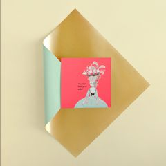 Hair Greeting Card for Her - Birthday, Thinking of You, Encouragement, Friendship