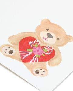 stuffed bear valentine's day card