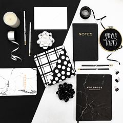 Eccolo Black & Gold Notes Journal Lifestyle