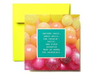 Awesome-Sauce Greeting Card - Congratulations, Graduation, New Job, Promotion, Encouragement