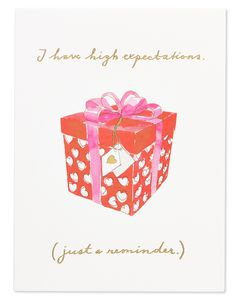 high expectations valentine's day card