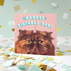 Birthday Babe Birthday Greeting Card for Her