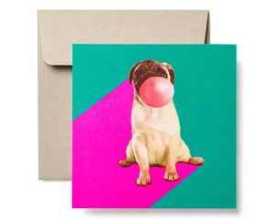 Pug Blank Card - Birthday, Friendship, Thinking of You