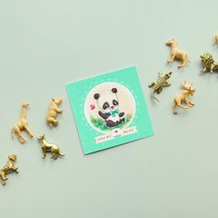 Panda New Baby Boy Congratulations Greeting Card