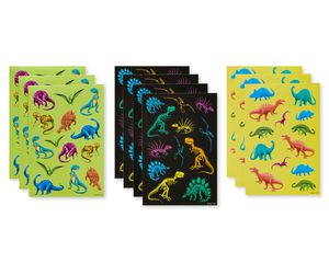 Variety Dinosaur Sticker Sheets, 129-Count