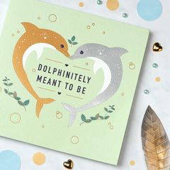 Dolphins Greeting Card for Couple - Engagement, Wedding, Anniversary