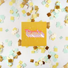 Thanks Thank You Greeting Card