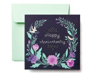 Floral Anniversary Greeting Card for Couple