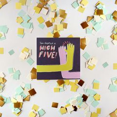 High Five Greeting Card - Congratulations, Graduation, New Job, Promotion, Encouragement