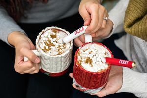 Mud Pie White Mug and Spoon