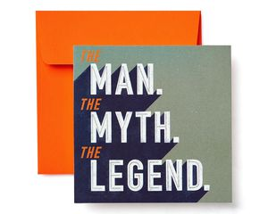 Legend Greeting Card for Him - Birthday, Thank You, Thinking of You, Encouragement, Congratulations