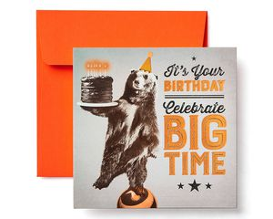 Bear Birthday Greeting Card