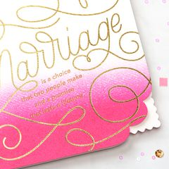 Marriage Greeting Card for Couple - Wedding, Anniversary