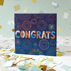 Congrats Greeting Card - Congratulations, Graduation, New Job, Promotion, Encouragement