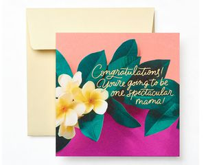 Floral Baby Shower Greeting Card