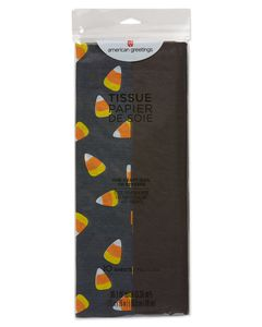 Black and Candy Corn Tissue Paper, 10-Sheets