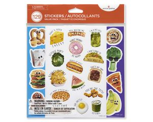 Variety Food Sticker Sheets, 129-Count