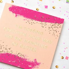 Glitter Thank You Greeting Card