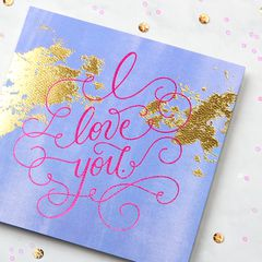 Love You Greeting Card - Romantic, Anniversary, Thinking of You