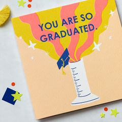 So Graduated Graduation Greeting Card