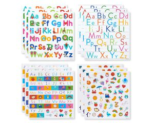 Alphabet Letter Sticker Sheets, 591-Count