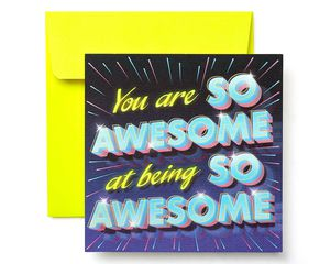 Awesome Greeting Card for Kids - Birthday, Thinking of You, Thank You, Friendship, Encouragement, Congratulations