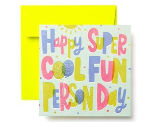 Super Cool Birthday Greeting Card for Kids