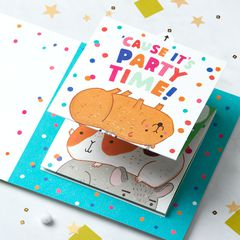 Paws Greeting Card for Kids - Birthday, Congratulations