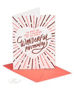 wonderful personality valentine's day card